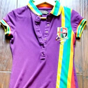 COOGI Womens Polo Short Sleeve Shirt Size M